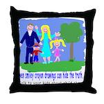 Abuse Awareness Throw Pillow