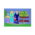 Abuse Awareness Rectangle Magnet (100 pack)