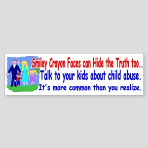 Abuse Awareness Bumper Sticker