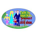 Abuse Awareness Oval Sticker
