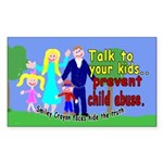 Abuse Awareness Rectangle Sticker