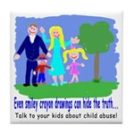 Abuse Awareness Tile Coaster
