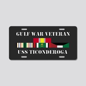 USS Ticonderoga Gulf War Veteran Aluminum License