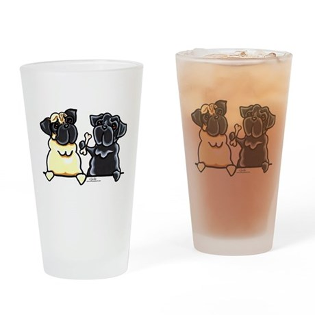 Bone to Pug Drinking Glass