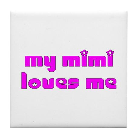 My Mimi Loves Me! (Purple Chick) Tile Coaster