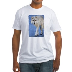 Approaching Wolf on Ice Shirt