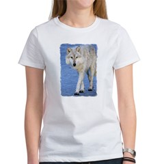 Approaching Wolf on Ice Women's T-Shirt