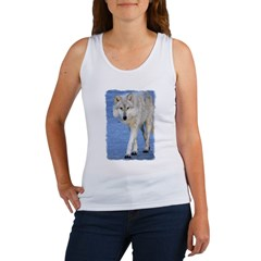 Approaching Wolf on Ice Women's Tank Top