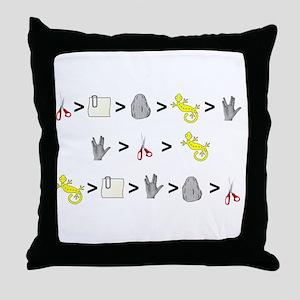 Rock Paper Scissors Lizard Sp Throw Pillow