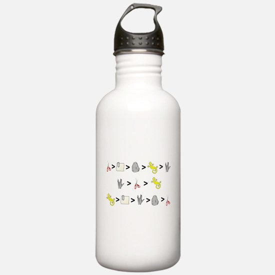 Rock Paper Scissors Lizard Sp Water Bottle