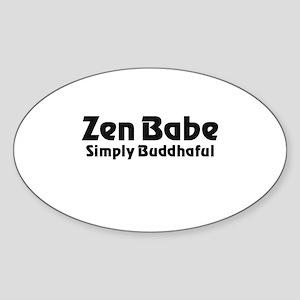 Zen Babe Sticker (Oval)