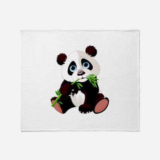 Cute Panda wall Throw Blanket