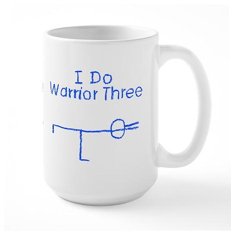 Blue Warrior Three Large Mug