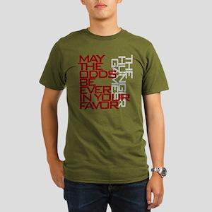Hunger Games words Organic Men's T-Shirt (dark)