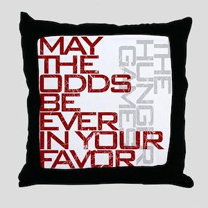 Hunger Games words Throw Pillow
