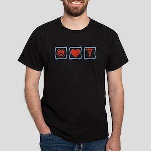 Peace, Love and Nurses Dark T-Shirt