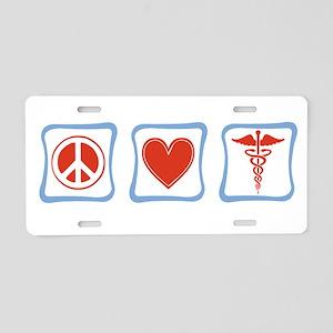 Peace, Love and Nurses Aluminum License Plate