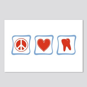 Peace, Love and Dentists Postcards (Package of 8)
