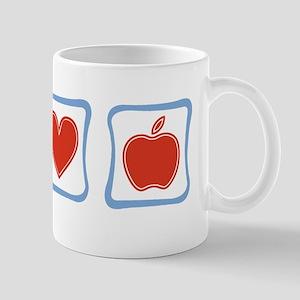 Peace, Love and Teachers Mug