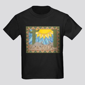 A is for Armadillo Kids Dark T-Shirt
