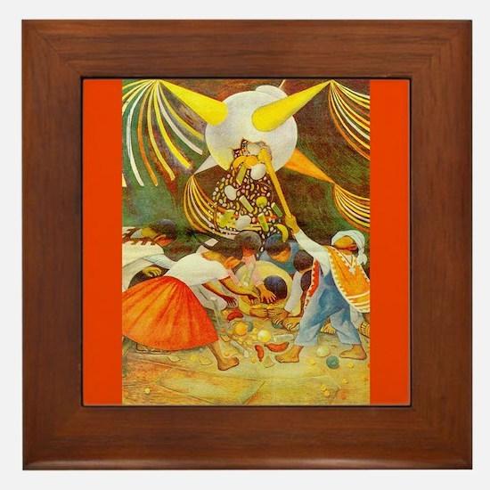 Diego Rivera Pinata Art Framed Tile