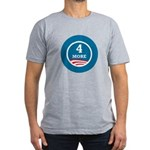 4 More Obama Men's Fitted T-Shirt (dark)