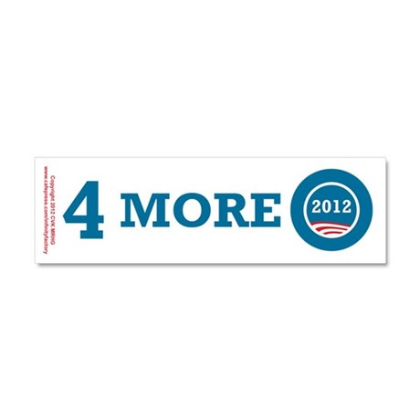 4 More Obama Car Magnet 10 x 3