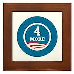 4 More Obama Framed Tile