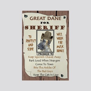 Great Dane (Brindle) Rectangle Magnet