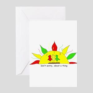 3 Little Birds Greeting Card