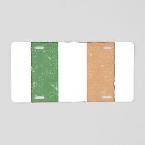 Vintage Irish Flag Aluminum License Plate
