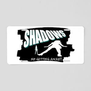 shadows Aluminum License Plate