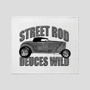 Deuces Wild 1932 Ford Roadste Throw Blanket
