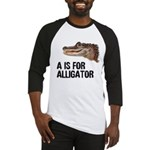 A Is For Alligator Baseball Jersey