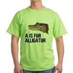 A Is For Alligator Green T-Shirt