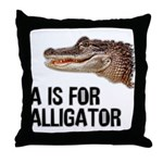 A Is For Alligator Throw Pillow