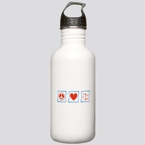 Peace, Love and Lawyers Stainless Water Bottle 1.0
