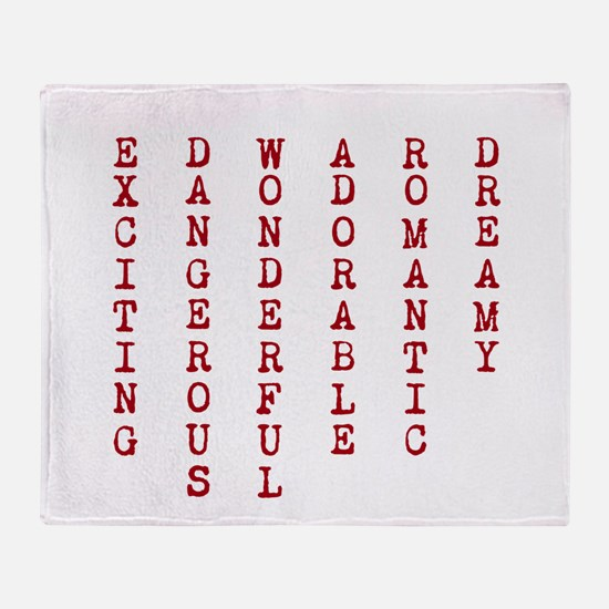 E D W A R D Throw Blanket