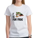 F Is For Frog Women's T-Shirt