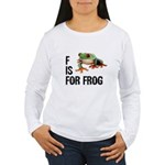 F Is For Frog Women's Long Sleeve T-Shirt