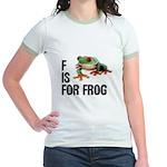 F Is For Frog Jr. Ringer T-Shirt