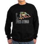 F Is For Frog Sweatshirt (dark)