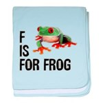 F Is For Frog baby blanket