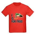 F Is For Frog Kids Dark T-Shirt