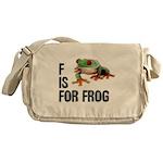F Is For Frog Messenger Bag