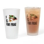 F Is For Frog Drinking Glass