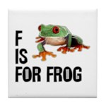 F Is For Frog Tile Coaster