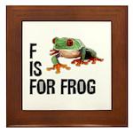 F Is For Frog Framed Tile