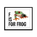 F Is For Frog Framed Panel Print
