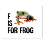 F Is For Frog Small Poster